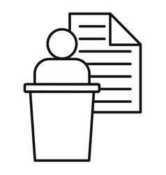 Admin speaker icon outline style vector