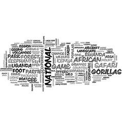 affrican safari text word cloud concept vector image