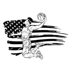 american basketball player sports vector image