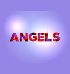 angels concept colorful word art vector image