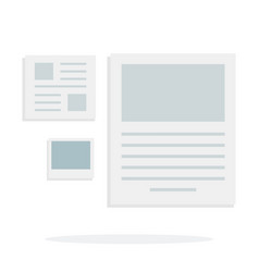 article in newspaper notes and photo vector image
