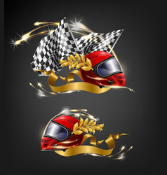 Auto sport racing victory realistic concept vector