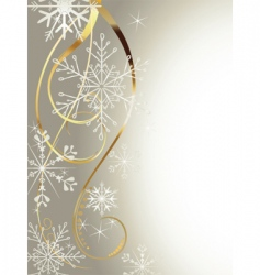 background with gold and snowflakes2 vector image vector image