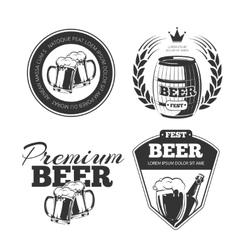 Beer festival emblems labels badges vector image