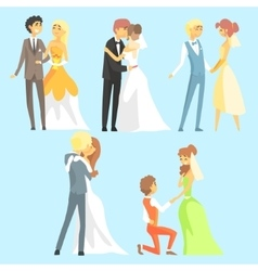 Brides And Grooms Couples vector