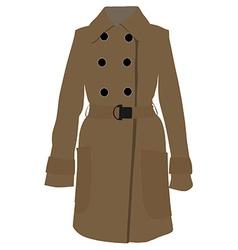 Brown coat vector