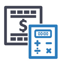 Budget planning calculation icon vector