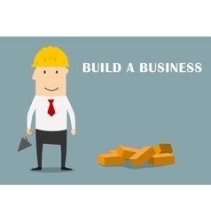 Businessman building a new business vector