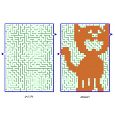 child picture puzzles vector image