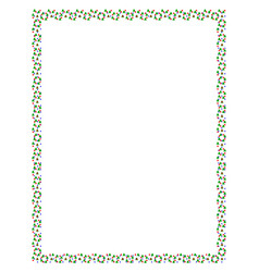 colored christmas trees frame vector image