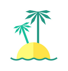 Coloured summer of an island vector