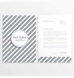 company brochure with diagonal lines pattern vector image