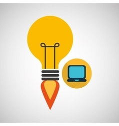 Creativity idea business laptop digital vector
