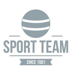 Cricket ball logo simple gray style vector
