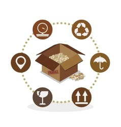 Delivery design shipping icon White background vector image
