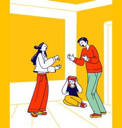 divorce unhappy marriage family conflict man vector image