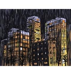 Drawing City vector image