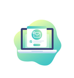 Encrypted message mail security icon vector