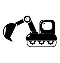 Excavator icon simple style vector