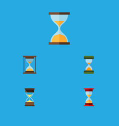 Flat icon hourglass set of hourglass loading vector