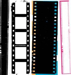 grunge film vector image