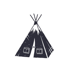 hand drawn camp tent shape indian style tent vector image