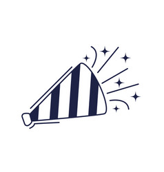 happy birthday horn blower decoration celebration vector image