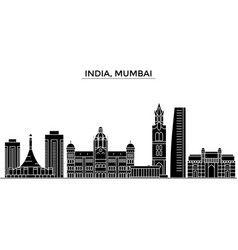 India mumbai architecture city skyline vector