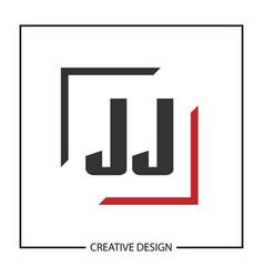 Initial jj letter logo template design vector