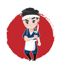 japanese chef vector image