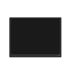 large flat tv isolated modern televisor on white vector image