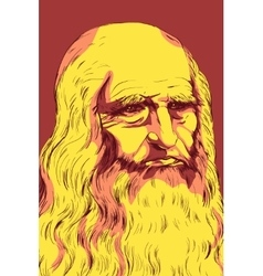 Leonardo da Vinci Self-Portrait 1512 vector
