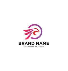 Logo abstract eagle head vector