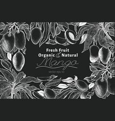mango tree vintage design template botanical vector image