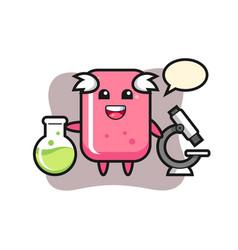 Mascot character bubble gum as a scientist vector