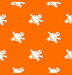 molecule biology pattern orange vector image