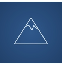 Mountain line icon vector image vector image