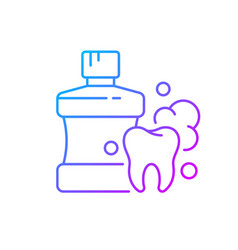 mouthwash for teeth health gradient linear icon vector image
