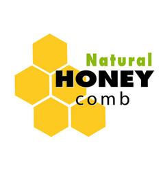 natural honeycomb logo white background ima vector image