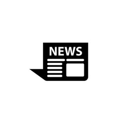 news icon black on white vector image