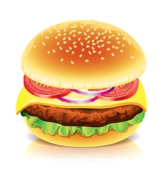 object hamburger vector image
