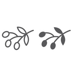 olives line and glyph icon food and vegetable vector image