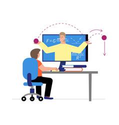 Online lesson vector