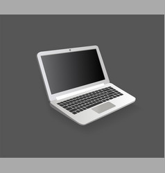 open laptop modern electronic device technology vector image