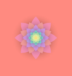 Paper colored flower vector