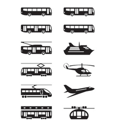 Passenger transportation vehicles vector image