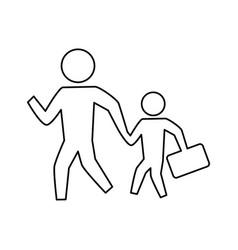 people crossing walking vector image