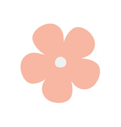 Pink flower decoration isolated icon white vector