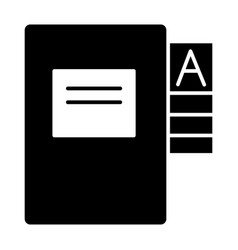 Questionnaire folder solid icon form doll vector