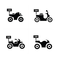 Sale motorcycle icon set vector